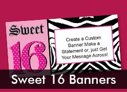 Sweet 16 Custom Banners