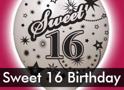 Sweet 16 Decorations & Supplies for 16th Birthday Parties