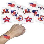 "Patriotic 1 1/4"" Tattoos - 144 Pack"