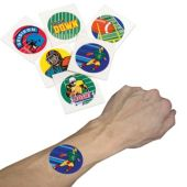 "Football 1 1/2"" Tattoos - 144 Pack"