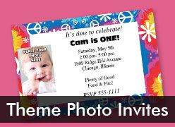 Personalized Theme Photo Invitations