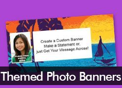 Themed Custom Photo Banners