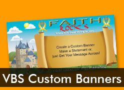 Vacation Bible School Custom Banners