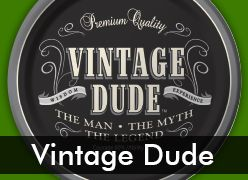 Vintage Dude Party Supplies for 30th, 40th, and 50th Birthday Parties