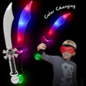 Pirate Sword with Multi Color LEDs and Prism Ball - 23 Inch