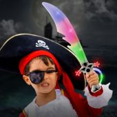 "Multi-Color LED and Light-Up Pirate 23"" Sword"