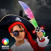"Multi-Color LED Pirate 23"" Sword"