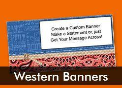Western Theme Custom Banners