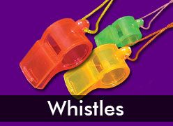 Bulk Novelty Whistles