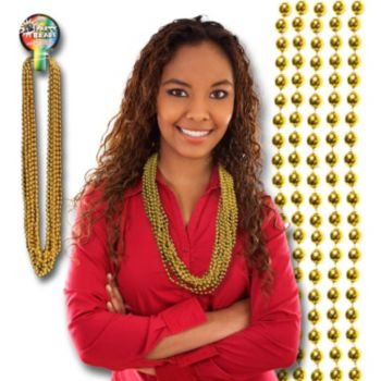 GOLD BEADS   7mm 33""