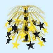 Gold & Black Star Cascade Centerpiece-18""