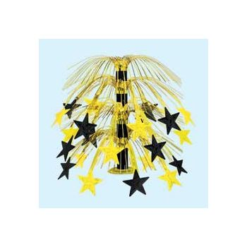 GOLD &  BLACK STAR   CASCADE CENTERPIECE