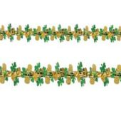 Irish Shamrock & Gold Metallic Garland Decoration