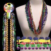 "Metallic Bead Necklaces-33""-12 Pack"