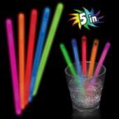"Red Glow Swizzle Sticks-5""- 50 Pack"