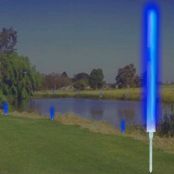 "10"" BLUE MARKER LIGHTS w GROUND STAKES"