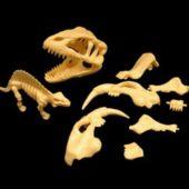 Small Prehistoric Dinosaur Skeleton Puzzle