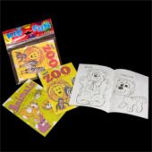 "Jungle Animal 5"" Coloring Books - 12 Pack"