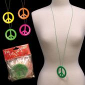 Peace Sign Necklaces - 12 Pack