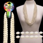 "Pearl White Bead Necklaces-33""-12 Pack"