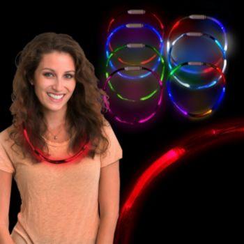 Red LED Fiber Optic Necklace