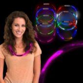 Pink LED Fiber Optic Necklace