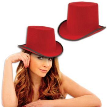 RED FELT TOP HAT