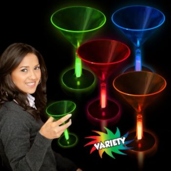 Glow Martini Glasses