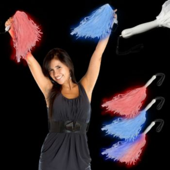LED Light Up Pom Poms Lighted Pom Poms in 6 Colors