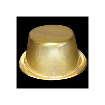 Gold Plastic Top Hats - 12 Pack