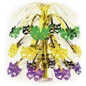 "Mardi Gras Mask Cascade Centerpiece-18"""