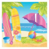 Surfs Up Luncheon Napkins - 16 Pack