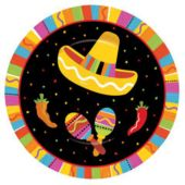 "Fiesta Party 7"" Paper Plates - 8 Pack"