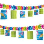 Flip Flop Flower Lanterns Garland Decoration
