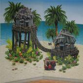 Pirate Hideaway Island Props