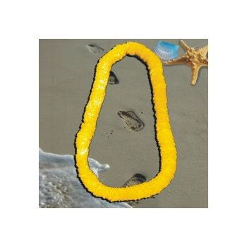 Yellow Plastic Leis - 34 Inch, 12 Pack