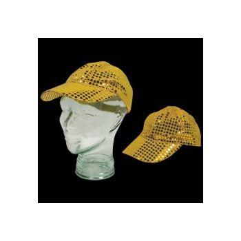 GOLD SEQUIN   BASEBALL CAP