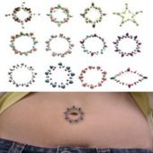 Rainbow Stone Temporary Tattoos - 12 Pack