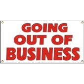 Going Out Of Business Vinyl Banner