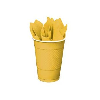 SUNFLOWER YELLOW   16 oz. PLASTIC CUPS