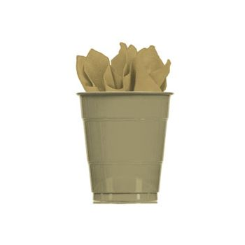 GOLD SOLID   16 oz. CUPS