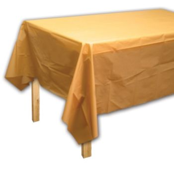 Gold Solid  Plastic Table Cover