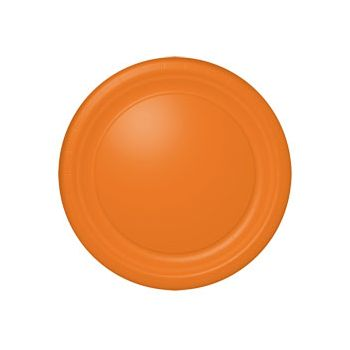 "ORANGE SOLID  10 12"" PLATES"