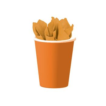 ORANGE SOLID  9 oz. CUPS
