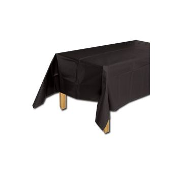 BLACK  SOLID  TABLE COVER