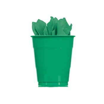GREEN SOLID   16 oz.CUPS