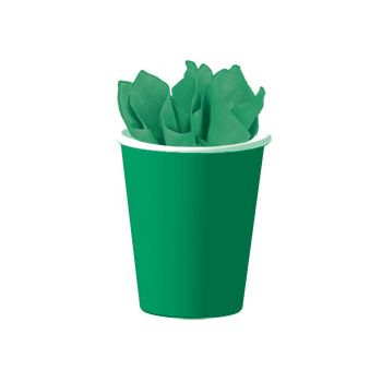 GREEN SOLID   9 oz. CUPS