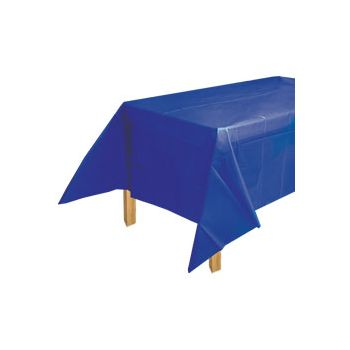 ROYAL BLUE SOLID   PLASTIC TABLE COVER