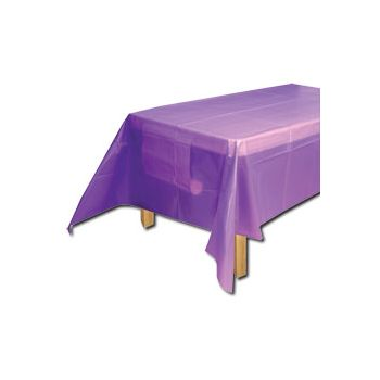 PURPLE SOLID   PLASTIC TABLE COVER
