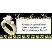 Happy Ever After Custom Message Vinyl Banner